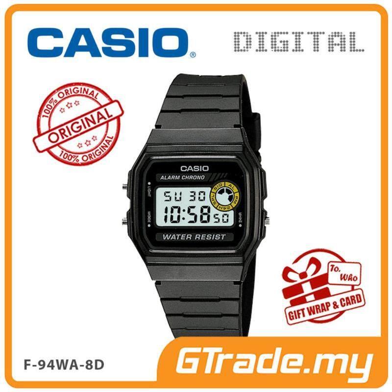 CASIO VINTAGE F-94WA-8D Digital Watch  Square Face 7 Yrs Batt. Malaysia