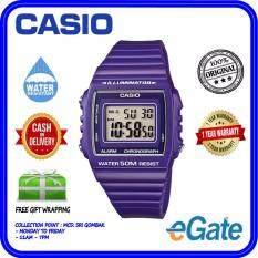 Casio W-215H-6AV Unisex Digital Purple Resin Strap Original Watch Malaysia