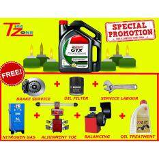 Castrol Gtx 15w40 Service Package With / Allignment / Balancing / Oil Filter / Oil Treatment By Tire Zone.