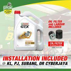 Castrol Gtx 4l 20w-50 Mineral Car Oil Change Service Package By Dtox Car Service.