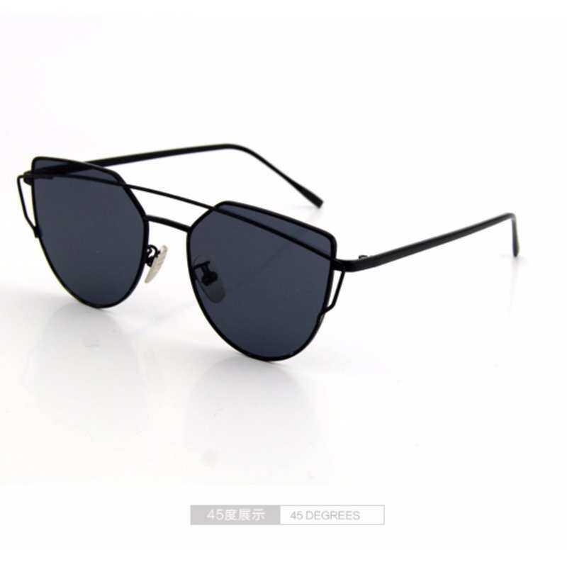 Kmdshxns Mata Kucing Kacamata Hitam-Kacamata Kacamata Kacamata Cermin