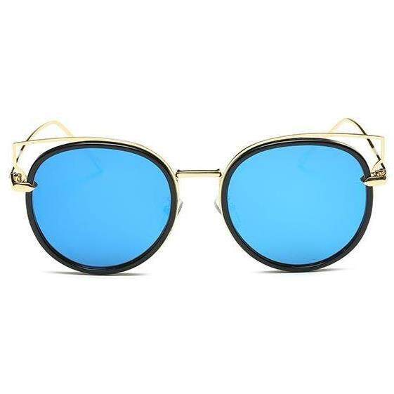 db4b08da78  YumingOnline-Fashion Cat s Eye Sunglasses For Men Women High Grade Round  Frame New