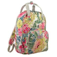 c6260e75e186c Cath Kidston Multi Pocket Backpack Matt Oilcloth Rucksack Orchard Bloom  Pattern (Colour Cream) Fitting 13