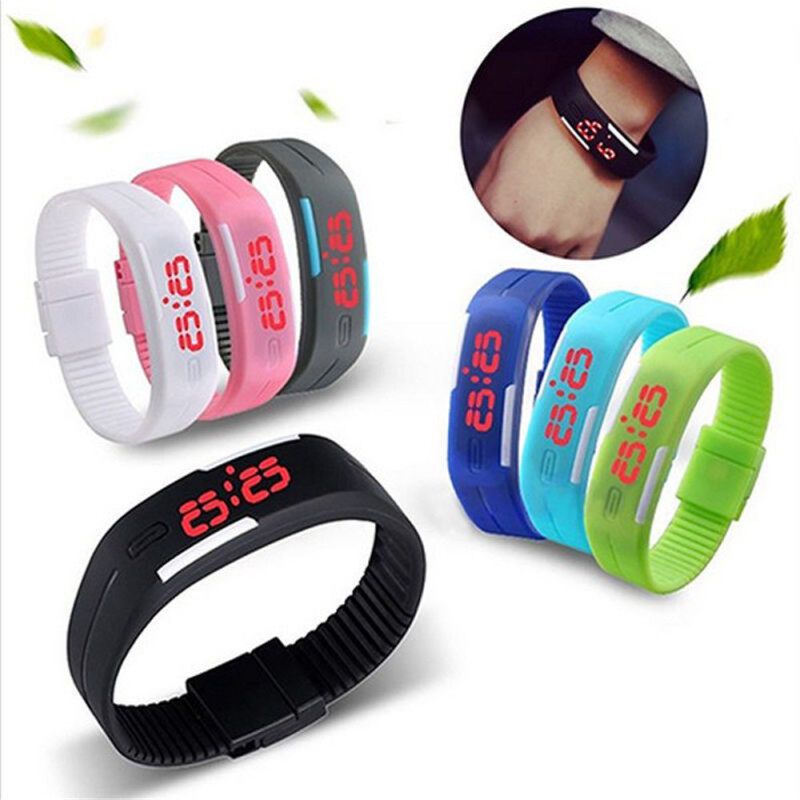 CatWalk New Silicone Gum Color Touch Screen Digital Watches Bracelets (Sky Blue) Malaysia