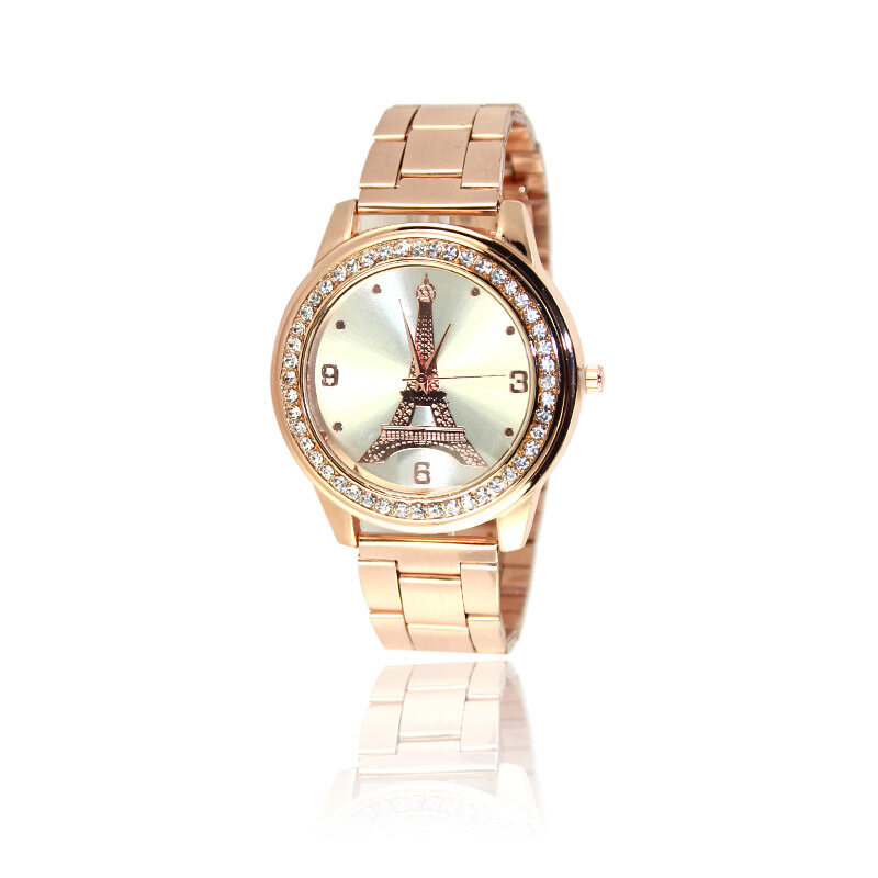 CatWalk Unisex Stainless Steel Band Crystal Quartz Wrist Watch (Rose Gold) Malaysia