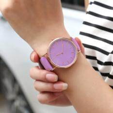 Changing Color Couple Quartz Wristwatches Leather Sport Watch In The Sun Malaysia