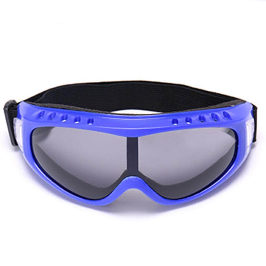 Cheer UV400 Tahan Angin Motor Kotoran Sepeda Balap untuk Kacamata Olahraga Anti-kabut Debu Biru-Flame-Grey-Lensa -Internasional