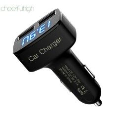 [cheerfulhigh][express Delivery+global Collection+receive Within 3 Days]4 Dalam 1 Pengecas Kereta Usb Dual Voltmeter 3.1a Blue Celsius By Cheerfulhigh.