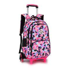 ea72d2df5992 Chic Girls Boys Children Trolley Backpack with 6 Wheels Kids Wheeled School  Bag Black