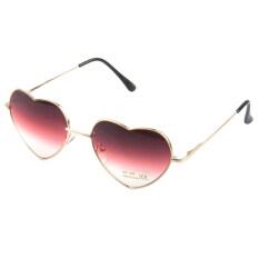 a7a0ff2ff4f Chic Metal Frame Sunglasses Women Love Heart Shape Lens Eyewear Eyeglasses  Red
