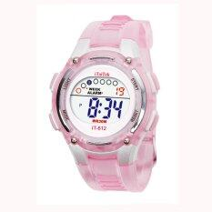 Children Boys Girls Swimming Sports Digital Waterproof Wrist Watch Pink Malaysia