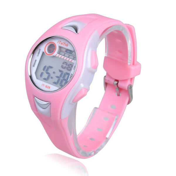 Children Boys Girls Swimming Sports Digital Wrist Watch Waterproof Pink Malaysia