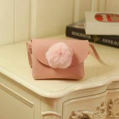 Giá bán Children Kid Girls Plush Fur Ball Shoulder Bag Winter Chain Handbag Pouch Purse