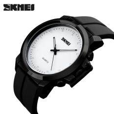 SKMEI 1208 Best Sell Quartz Watches Men Plating Large Dial 30M Waterproof Fashion Casual Gentleman Business Wristwatches Ready Stock Malaysia