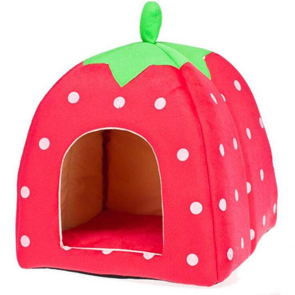 Christmas Decor Dog Houses Pumpkin Nest Dot Design Cat HousesRemovable Cotton Pet Bed For Small Puppy Size:S