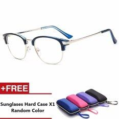 Claires Brand Unisex Retro Aluminum Sunglasses Vintage Eyewear Accessories Glasses For Men/women (blue) By Crc Mall.