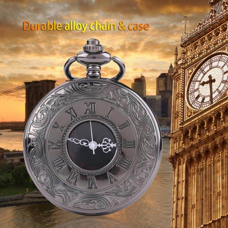 Classical Quartz Analog Alloy Pocket Watch Necklace Pendant with Chain Malaysia