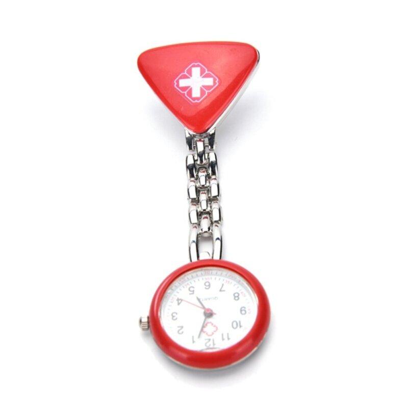 Clip Nurse Doctor Pendant Pocket Quartz Red Cross Brooch Nurses Watch Fob Red Malaysia