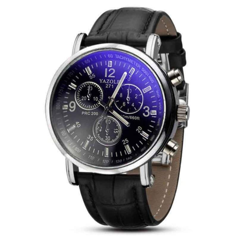coconie  Luxury Fashion Crocodile Faux Leather Mens Analog Watch Watches New Malaysia