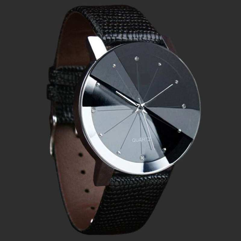 coconie Luxury Quartz Sport Military Stainless Steel Dial Leather Band Wrist Watch Men - intl