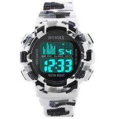 coconie Mens Stainless Steel LED Digital Date Alarm Waterproof Sports Army Quartz Watch
