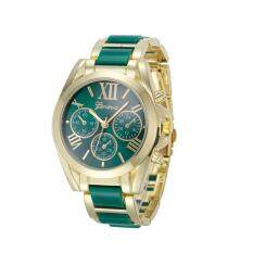 coconie Women Geneva Roman Numeral Gold Plated Metal/Nylon Link Watch Malaysia