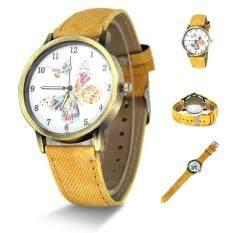 Coconiey Women Band Analog Quartz Business Wrist Watch Yellow free shipping Malaysia