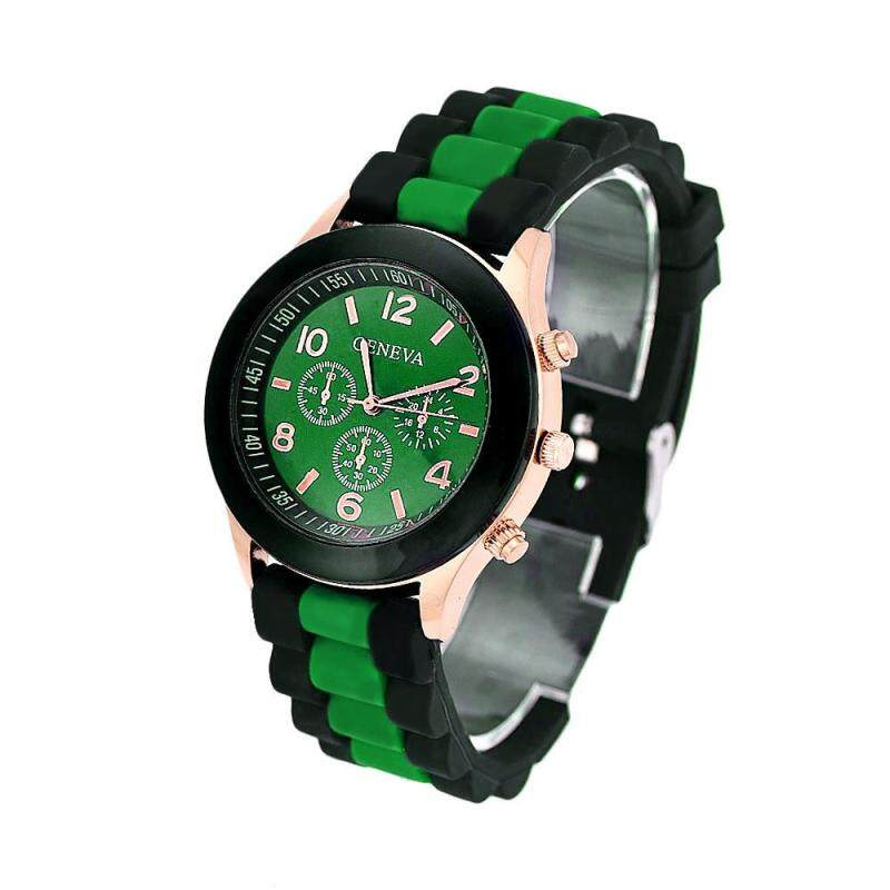 Colorful Unisex Geneva Silicone Jelly Gel Quartz Analog Sports Wrist Watch Green Malaysia