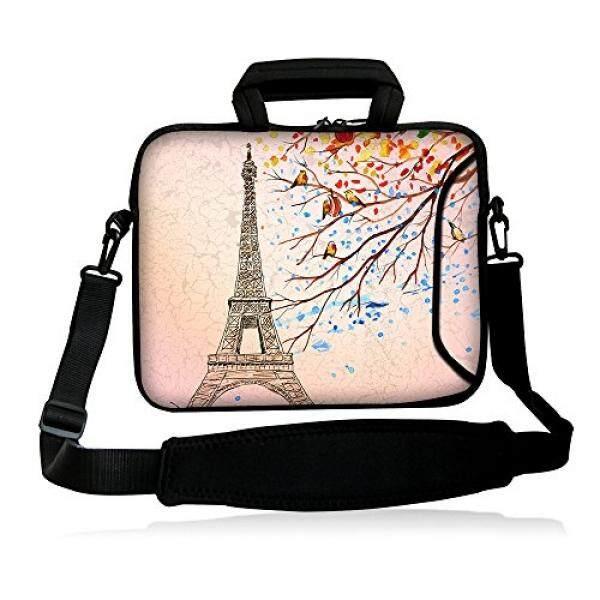 Colorfulbags Universal Menara Eiffel 13 13.1 13.3 Inch Neoprene Laptop Netbook Tablet Bahu Kasus Membawa Lengan Tas Sarung dengan Tali saku untuk 13.3 Apple MacBook Pro, udara/13.3 Samsung Seri 5 9 Ultrabook/Ponsel Folio/E-Internasional