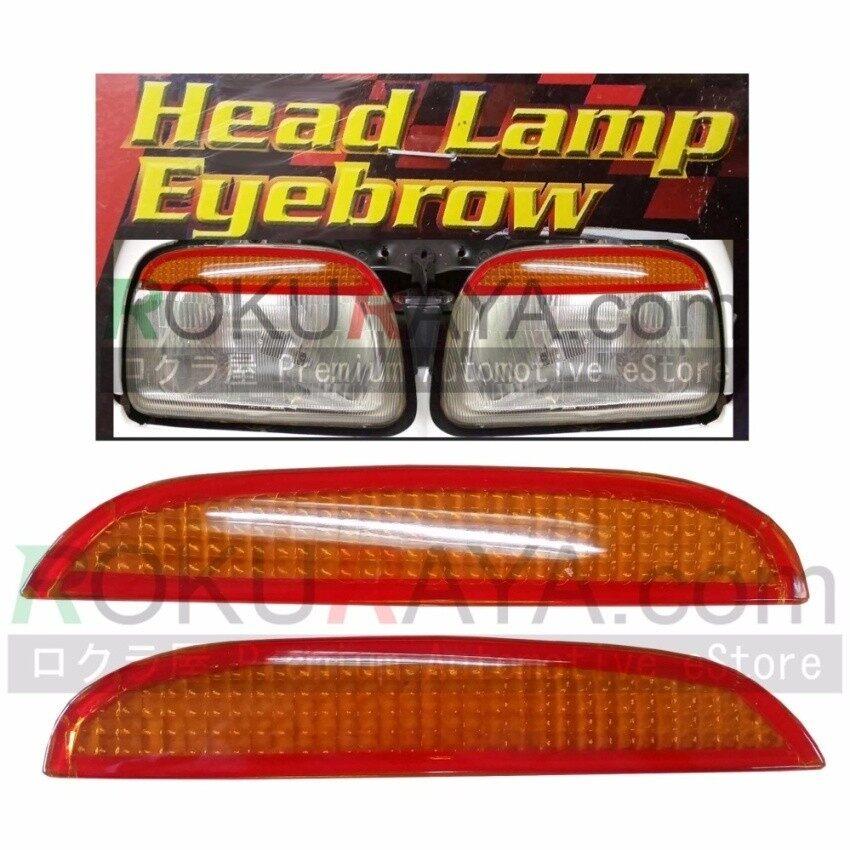 Dong Cschina Perodua Kancil Tua Kepala Persegi L (1994-2000) custom Fit ABS Mobil Headl Kepala L Kelopak Mata Mata Tutup Penutup Lampu Ambar Oranye (Atas)