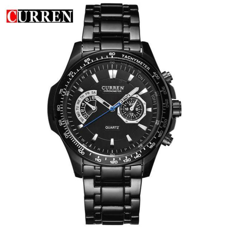 CURREN 8020 Hot-Sale Watches Mens Quartz Fashion Casual Display Stainless Full Steel Strap Watches Black Black Malaysia