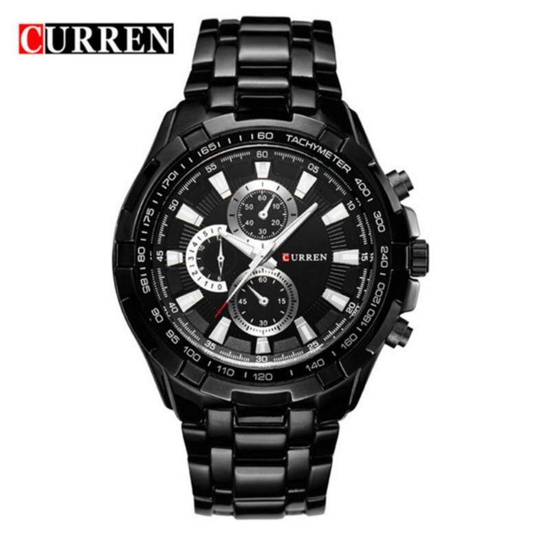 CURREN 8023 Fashionable Luxury Mens Stainless Steel Business Casual Military Grade Waterproof Quartz Watch with A Steel Band Malaysia
