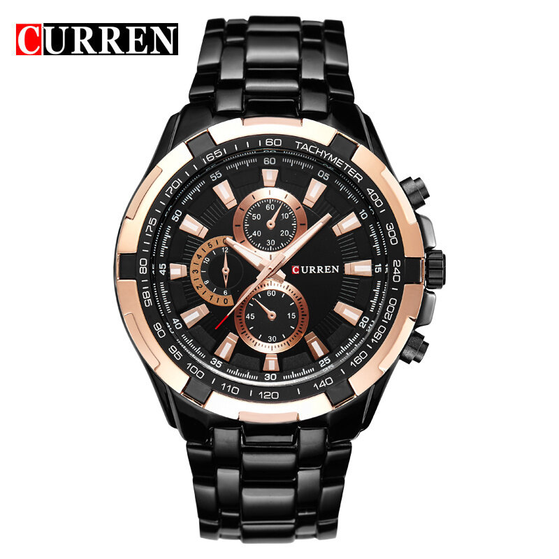 CURREN 8023 Men Male Stainless Steel Strap And Case Stylish Fashion Military Army Sport Wrist Quartz Watch Malaysia