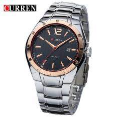 Curren 8103 Mens Business Casual Date Display Stainless Steel Watch (Gold Black) Malaysia