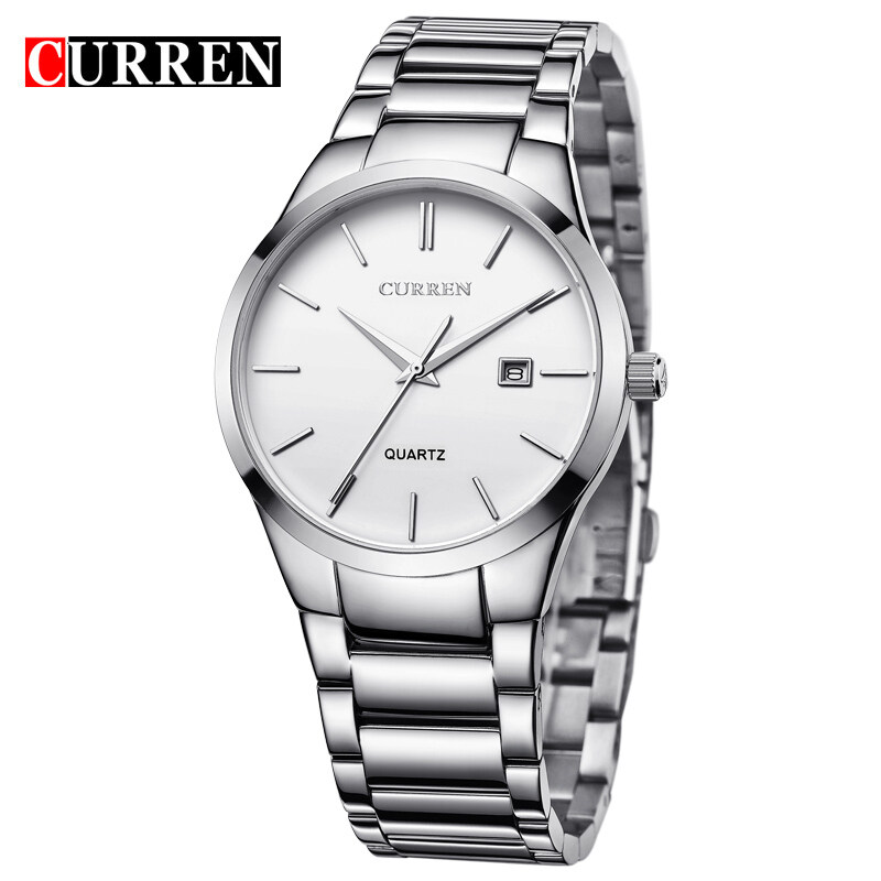CURREN 8106 Men Male Stainless Steel Strap And Case Stylish Fashion Military Army Sport Wrist Quartz Watch Malaysia