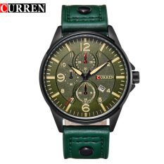 Curren 8164 Mens Military Sports Date Display Leather Strap Watch (Green) Malaysia