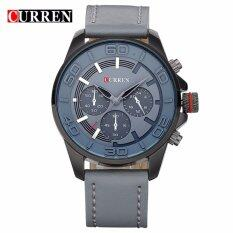 Curren 8187 Mens Military Fashion Leather Strap Watch (Grey) Malaysia