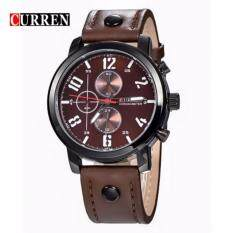 Curren 8192 Luxury Casual Men Watches Sports Watch (Brown White) Malaysia