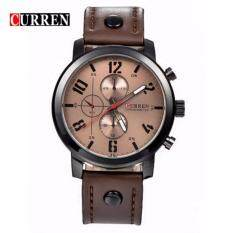 Curren 8192 Luxury Casual Men Watches Sports Watch (Brown) Malaysia