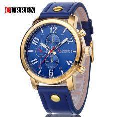 Curren 8192 Luxury Casual Men Watches Sports Watch (Gold Blue) Malaysia
