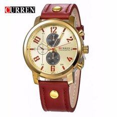 Curren 8192 Luxury Casual Men Watches Sports Watch (Gold Red) Malaysia