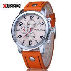 Curren 8192 Luxury Casual Men Watches Sports Watch (Silver Orange) Malaysia