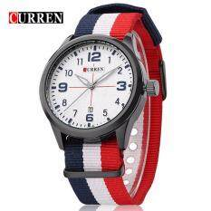 Curren 8195 Sports Watches Quartz Matte dial Watches Men Multicolor - White Blue White Red Malaysia