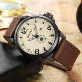 Discounted Curren 8253 Men S Waterproof Belt Watch Casual Brown Yellow