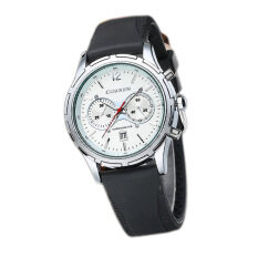 Curren Mens Dial PU Leather Band  Wrist Watch 8066 White Malaysia