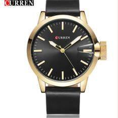 CURREN Original Brand Mens Sports Leather Strap Quartz Wrist Watch 8208 Malaysia