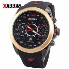 Curren Water Resistent Military 8166 Watch Men - Gold Black Malaysia