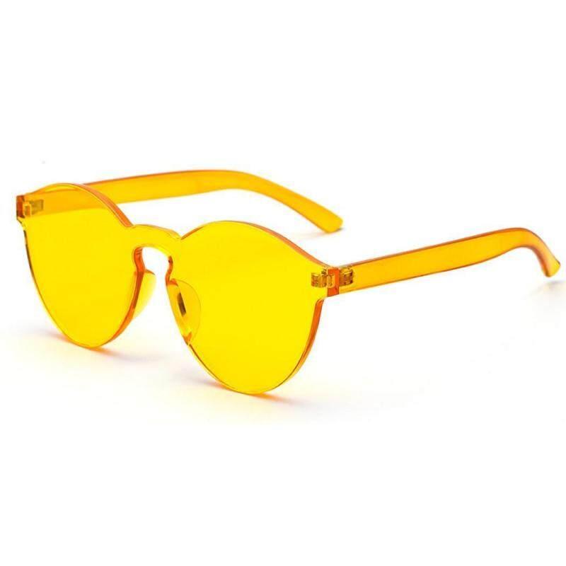 Giá bán Cyber Lợi Thấp Nữ Phong Cách Vintage Tròn Màu Kẹo Kính Mát UV400 (Vàng)-quốc tế
