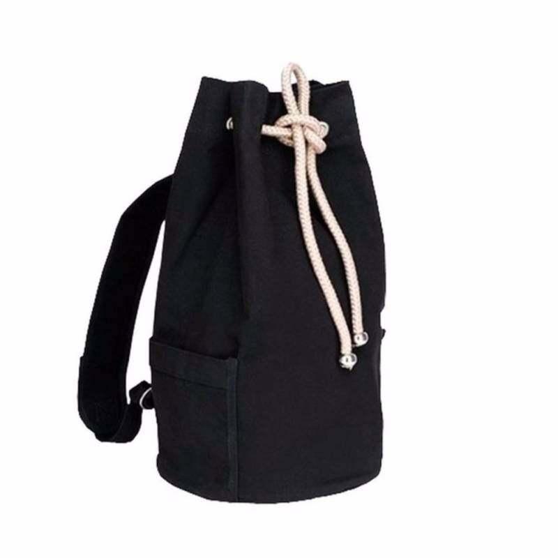 Cylindrical Vertical Bucket Shaped Canvas Beam Port Drawstring Bag - intl a736c24af