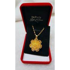 DeParis Premium Handcraft 24K Gold-Plating ENCHANTED Flower Pendant - 2.5 cm